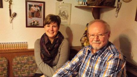Steffi und Wolfgang zum Abendessen in der Entenmühle