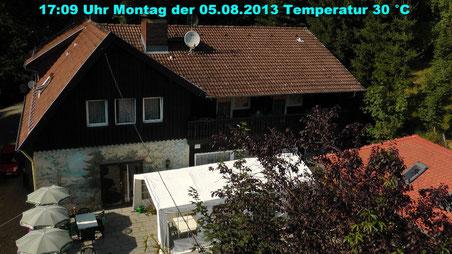 Wetter vom Montag den 05.08.2013 um 17:09 Uhr Temperatur 30 °C Sonne pur