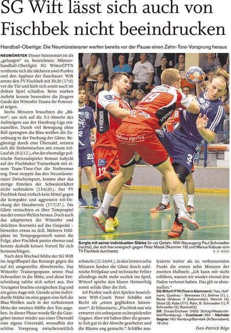3. Spieltag, Holsteinischer Courier