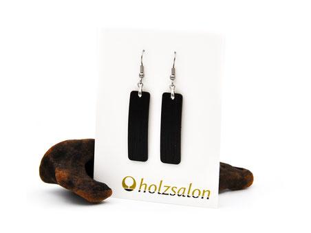 Holzohrhänger Lilli schwarzes Ebenholz Holzohrringe