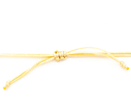 Schiebeknoten Armband Armbändchen Ebenholz weiß Bella