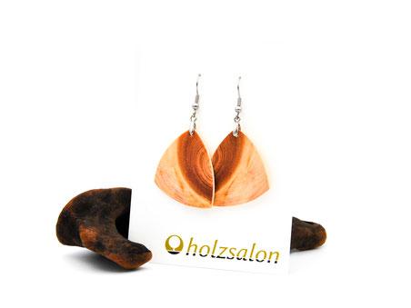 Holzohrhänger Nora Zirbe Zirbenholz Holzohrringe