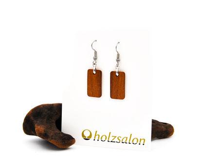 Holzohrhänger Lilli klein indisches Apfelholz Holzohrringe
