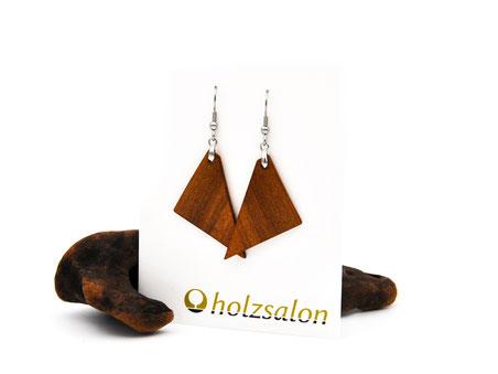 Holzohrhänger Lea indisches Apfelholz Holzohrringe