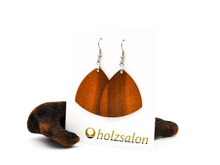 Holzohrhänger Nora indisches Apfelholz Holzohrringe