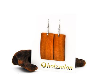 Holzohrhänger Ella indisches Apfelholz Holzohrringe