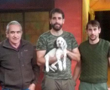 """Nuestros cachorros """"NILO DE BERQUIR"""" (en la fotografía), hijo de """"Nur de Zubialde"""" y """"Costa de Berquir"""" y   """"PANKI DE BERQUIR"""" (hijo de """"Gym de Faenor"""" y """"Sira de Berquir""""),  ya están en su nuevo hogar en Oroz Betelu (Navarra) junto con sus nuevos dueños."""