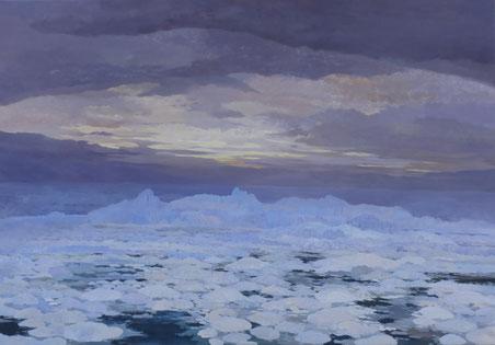 """Martin Guido Becker, """"Eismeer"""", 2014, 90/130 cm"""