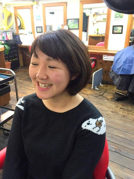 横浜・美容室YUME-YUI ☆短め前髪がトレンドのあの娘