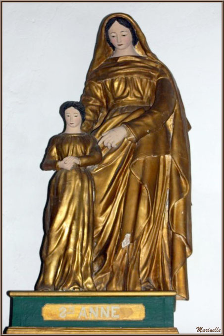 Statue de Sainte Anne à l'église Saint Sébastien - Goult, Lubéron - Vaucluse (84)