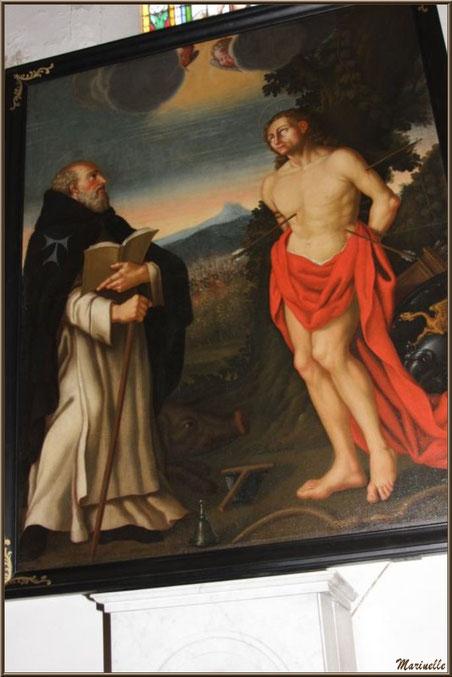 Tableau de Saint Sébastien au-dessus d'un autel de l'église Saint Sébastien - Goult, Lubéron (84)