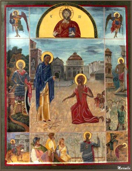 Tableau dans l'église Saint Sébastien - Goult, Lubéron - Vaucluse (84)