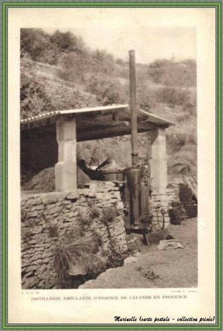 Autrefois... Distillation ambulate de lavande (carte postale - collection privée)