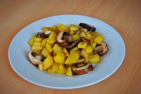 Detox Rezept: Kartoffel-Chamignons-Pfanne