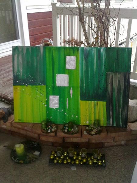 Acrylbild in wunderschönem grün €150,-