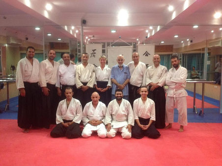 Août 2014: Visite au Maroc de Mme Marie Burdin élève de Sensei Alain peyrache de l'EPA (www.lyon-centre-aikido.fr)