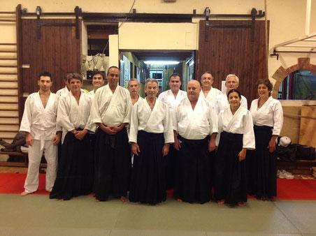 Visite du Dojo à Marseille de Claude Pellerin 7 dan Shihan aikido 16 au 21 septembre 2013