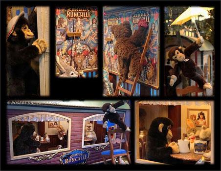 der Zirkus ist da - das 2019/2020 Schaufenster der Firma Steiff in der Galeria Kaufhof Hannover