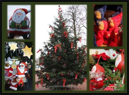 mit vielen Weihnachtsmännern und -wichteln rund um die Nicolaikirche