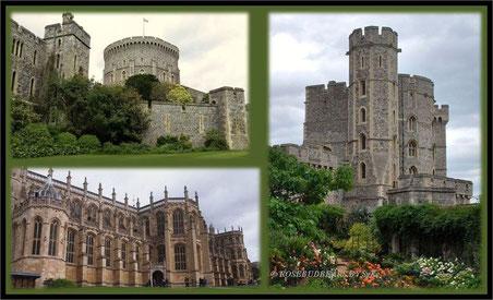 Windsor-Standard: Grauer Stein vor grauem Himmel - und Touristen