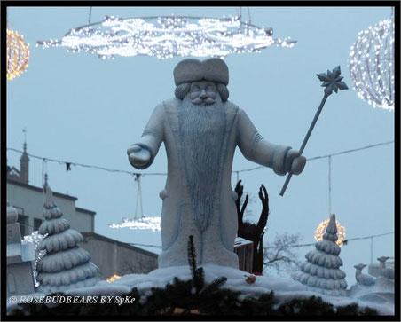 in Hannover angekommen: Väterchen Frost wacht über den Weihnachtsmarkt