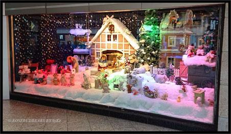 das Steiff-Schaufenster im Kaufhof Köln