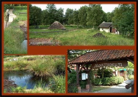 Moormuseum in Moordorf mit Bohlenweg und Siedlerhütten