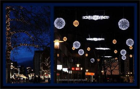 Lichtimpressionen aus Hannovers City und lockdown-leerer Fußgängerzone