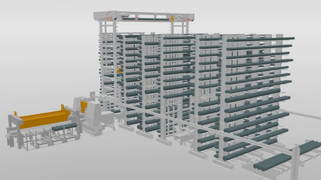KASTOcenter, 3D, storage system, saw, control