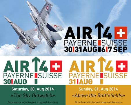 AIR14 PAYERNE : Week end (30-31 Aout)  50 ans Patrouille Suisse 25 ans PC-7 TEAM  100 ans des Forces aériennes suisse  photos french airshow tv