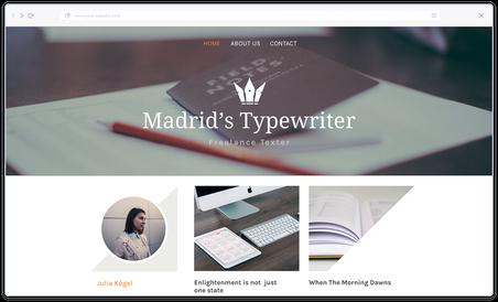 esempio di sito web professionale creato con Jimdo