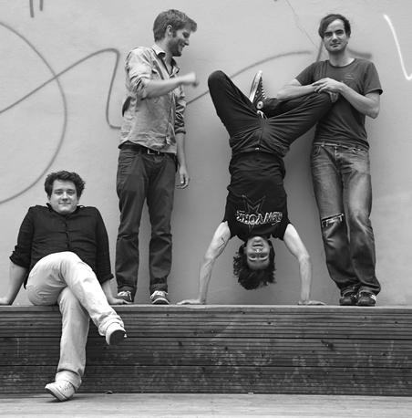 [von links:]  Philipp Scholz, Sebastian Wehle,Robert Lucaciu und Johannes Moritz