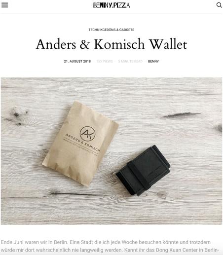 A&K MINI Portemonnaie in schwarz/schwarz mit Schlüsselkarte und Verpackung