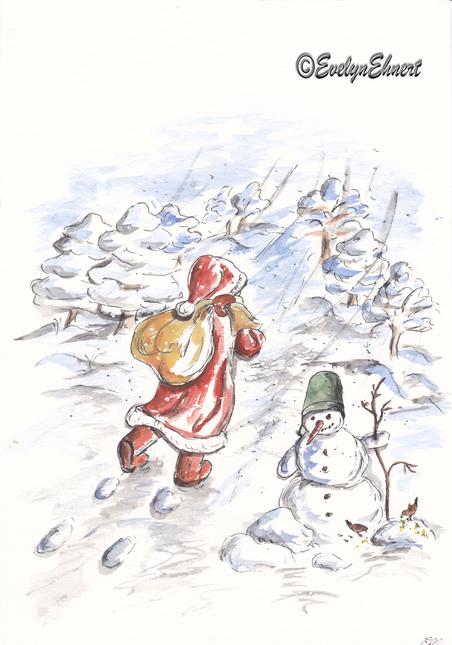 Bild_Evelyn_Ehnert_Weihnachtsmann_www.evelyn-ehnert.de_Zeichnung