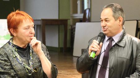 La Présidente de l'ABISE et le Directeur de la CAF 71