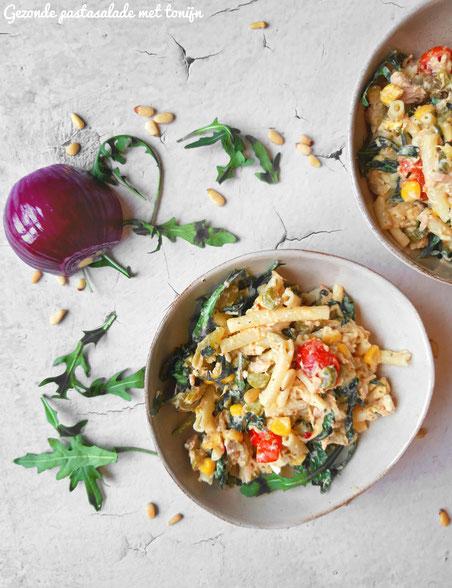 Gezonde pastasalade met tonijn