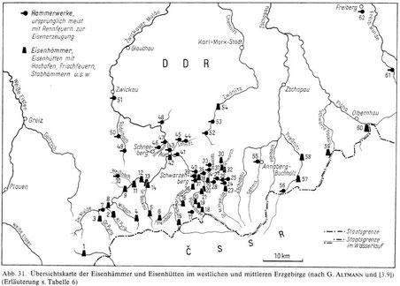 Bergbau Erzgebirge Karte.Die Eisenstrasse Meine Personliche Kemtau Seite