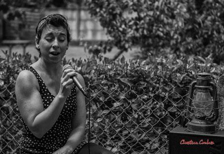 Lily Wesphal ; Happy Devils. Lunch JAZZ360, restaurant les Acacias, Cénac. Samedi 5 juin 2021. Photographie © Christian Coulais