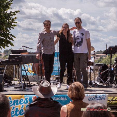 Loïc Cavadore Trio :  Loïc Cavadore, Nolwenn Leizour, Simon Pourbaix. Festival JAZZ360 2019, Camblanes-et-Meynac. Samedi 8 juin 2019