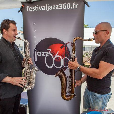 Logo JAZZ360, avec Denis Bonithon, saxophone alto & Yohann Pichon,saxophone ténor; Soul Kitchen, Festival JAZZ360. 11/06/2017