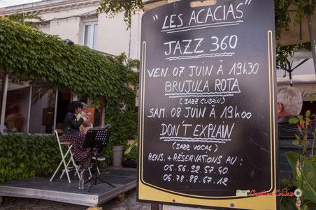 Don't Explain au Festival JAZZ360 2019, SoupéJazz360 au Restaurant les Acacias, Cénac. Samedi 8 juin 2019