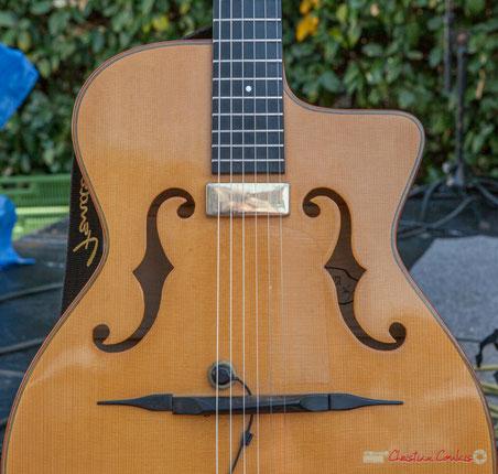 Guitare de Cyril Salvagnac, Mystèretrio Quartet, Festival JAZZ360, Latresne, 11/06/2017