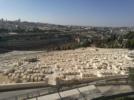 Jewish cemetery on the slopes of Mt. of Olives