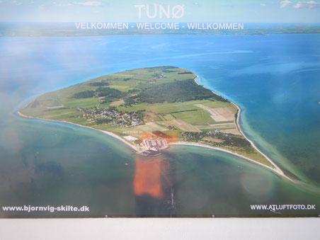Luftbild von Tunø