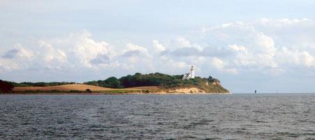 Vesborg Fyr an der Südwestecke von Samsø