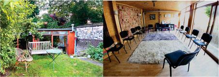 Salle où nous donnons les Cours de Sophrologie en Belgique à Liège (extérieur-intérieur)