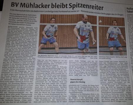 BVM wird Herbstmeister der Landesliga 2019/20 als Aufsteiger!