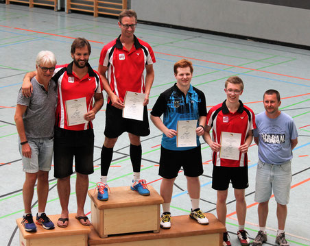 Siegerehrung Herreneinzel 3. Platz