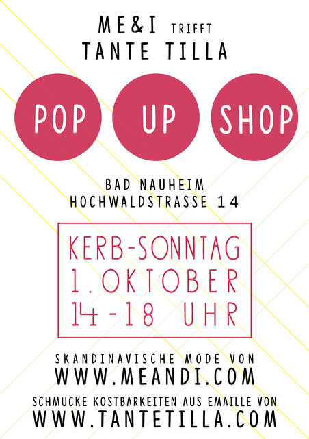 Besucht unseren POP UP SHOP am 1. Oktober in Bad Nauheim