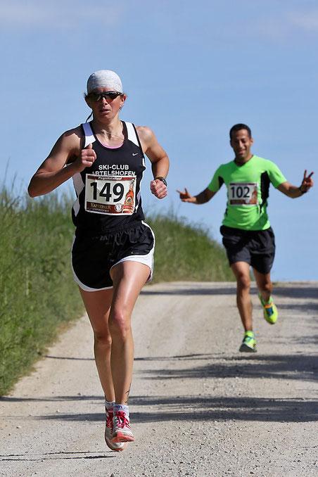 Tamara Zeltner vom SCA, schnellste Dame über 10 km